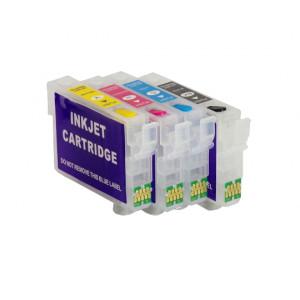 Cartouches rechargeables pour Epson XP-2100 XP-2105 + 400ml encre de sublimation