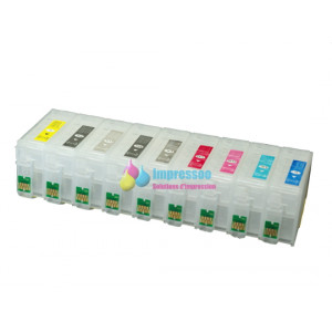 Cartouches rechargeables pour Epson SureColor SC-P600 Non-OEM +  InkTec PowerChrome K3 encre pigmentée