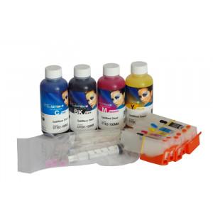 Cartouches rechargeables pour Epson XP-530 XP-540 XP-630 XP-640 XP-645 XP-635 XP-830 + 400ml InkTec SubliNova Smart encre de sublimation